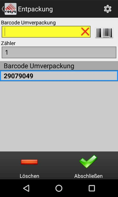 Entpackung Disaggregation Tabak Track and Trace