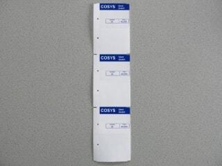 Etiketten Übersicht COSYS