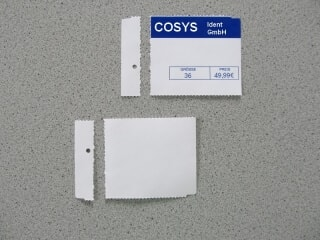 Regaletiketten COSYS Ident GmbH