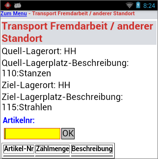 Transport Fremdarbeit Production Management (Manager)