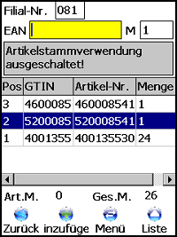 Retoure Auswahl Windows Mobile / CE Software von COSYS