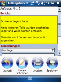 Bericht Erstellung Windows Mobile / CE Software von COSYS