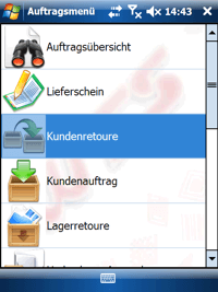 Kundenretoure Windows Mobile / CE Software