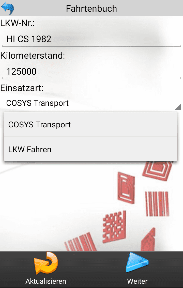 COSYS TMS Transport Management System Software Beladung