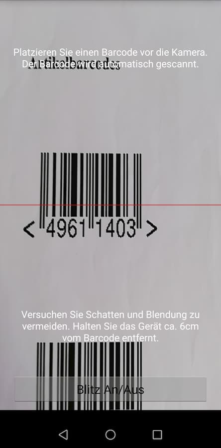 Barcode Scanning Kommissionierung Android App